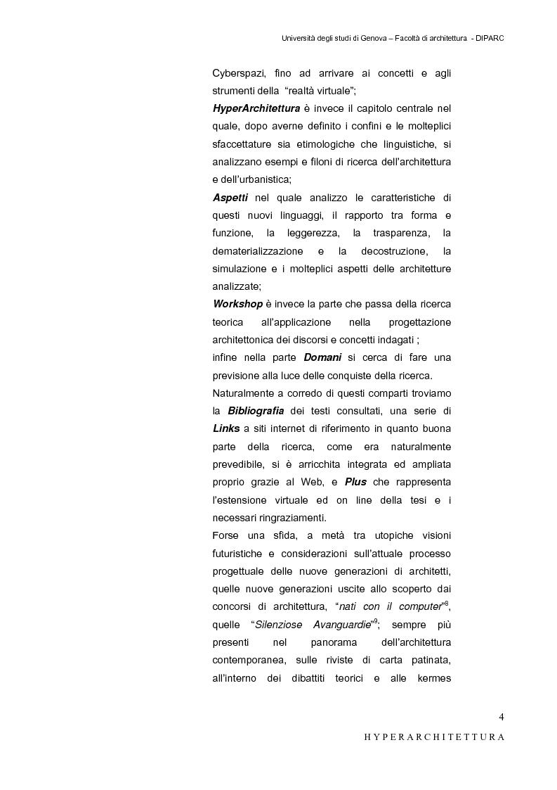Anteprima della tesi: Hyper_Architettura - Spazi nell'età dell'elettronica e dell'informazione. Sovrapposizioni, intrecci, contaminazioni tra reale e virtuale. Un iperpaesaggio alla Fiera di Genova, Pagina 4