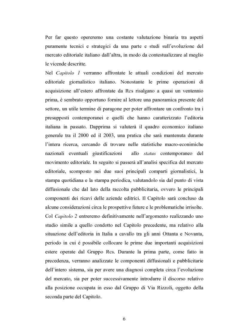 Anteprima della tesi: Il processo di internazionalizzazione di un'azienda leader nel mercato editoriale italiano: il caso Rcs MediaGroup, Pagina 2