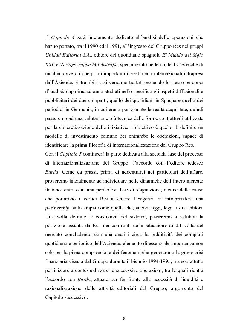 Anteprima della tesi: Il processo di internazionalizzazione di un'azienda leader nel mercato editoriale italiano: il caso Rcs MediaGroup, Pagina 4