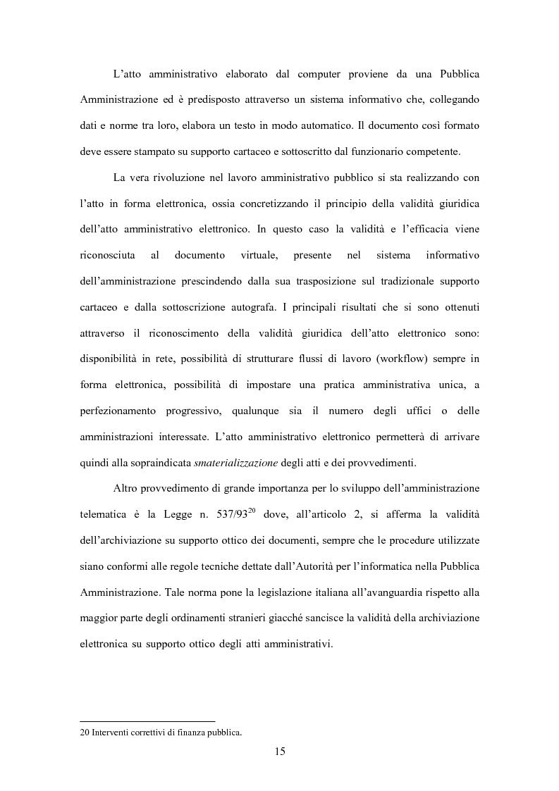 Anteprima della tesi: L'evoluzione informatica all'interno della Pubblica Amministrazione, Pagina 12