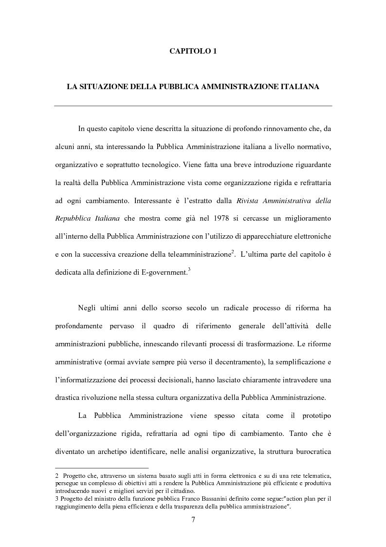Anteprima della tesi: L'evoluzione informatica all'interno della Pubblica Amministrazione, Pagina 4