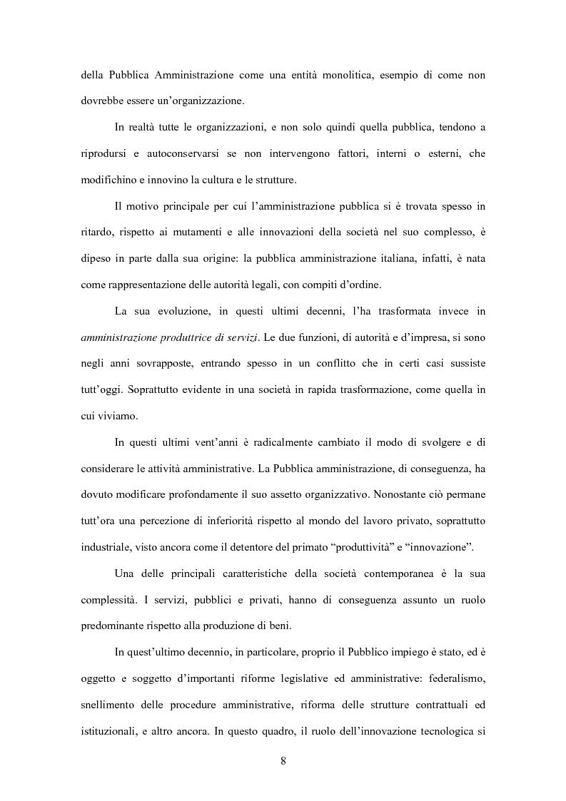 Anteprima della tesi: L'evoluzione informatica all'interno della Pubblica Amministrazione, Pagina 5