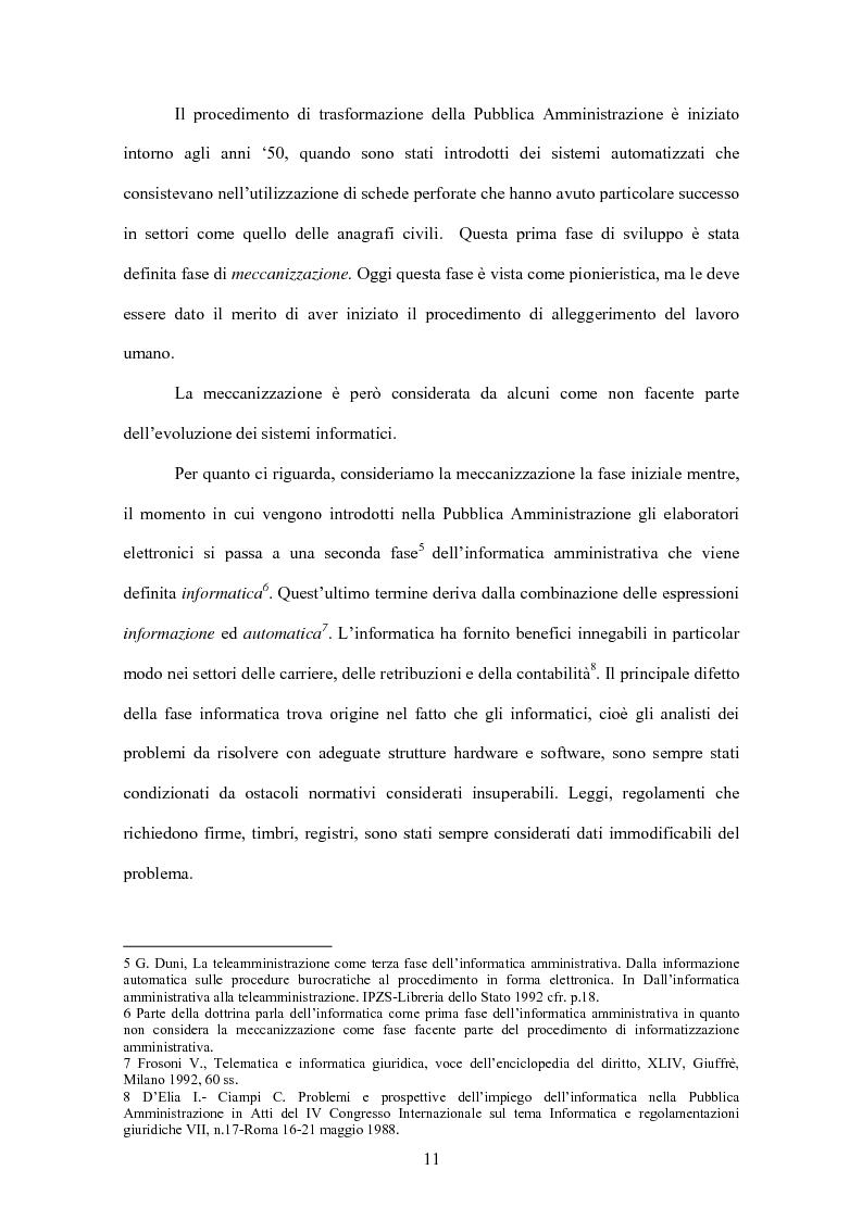 Anteprima della tesi: L'evoluzione informatica all'interno della Pubblica Amministrazione, Pagina 8
