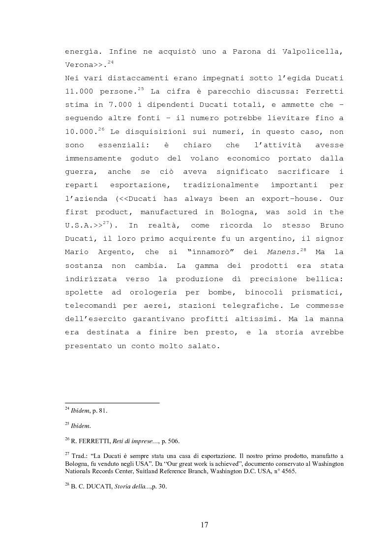 Anteprima della tesi: Storia della Ducati: da ''Società Scientifica Radio Brevetti Ducati'' a ''Ducati Motor Holding'', Pagina 15