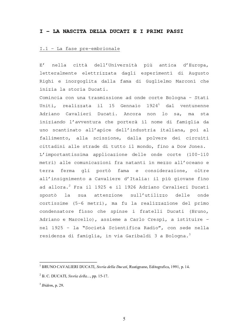 Anteprima della tesi: Storia della Ducati: da ''Società Scientifica Radio Brevetti Ducati'' a ''Ducati Motor Holding'', Pagina 3