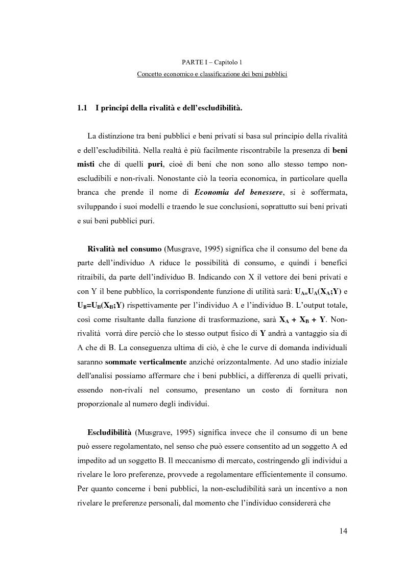 Anteprima della tesi: La valutazione economica dei beni pubblici ambientali ed architettonico-culturali - Un'applicazione della valutazione contingente al sistema di beni culturali denominato ''Circuito Urbano delle Chiese Rupestri di Matera'', Pagina 7