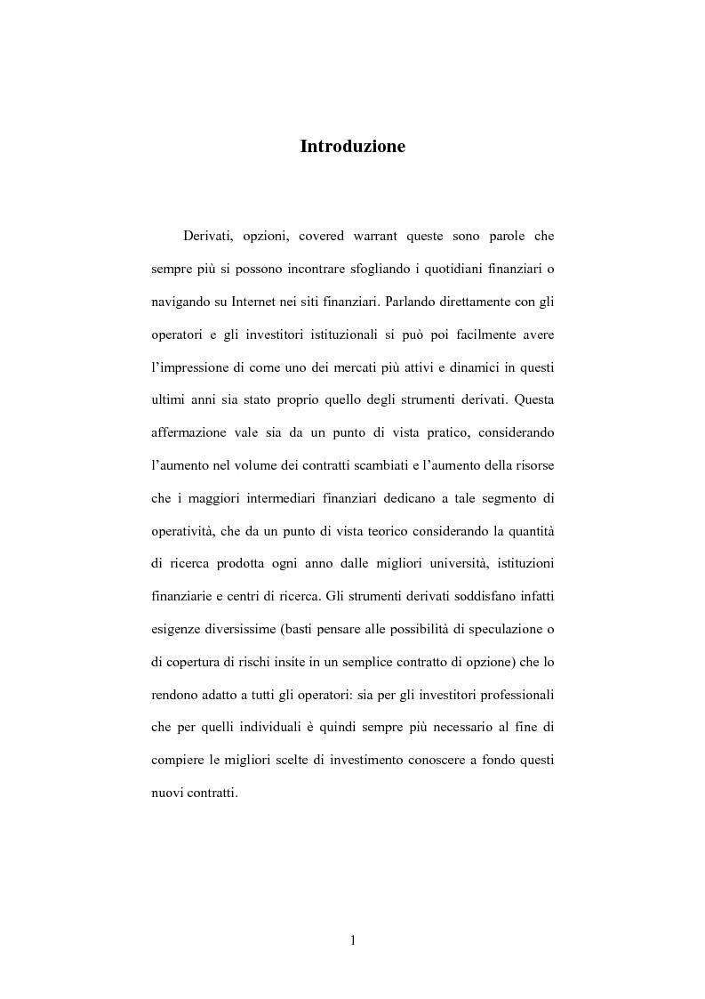 Anteprima della tesi: Daytraders vs Market Makers: tecniche di negoziazione nel mercato dei covered warrant, Pagina 1