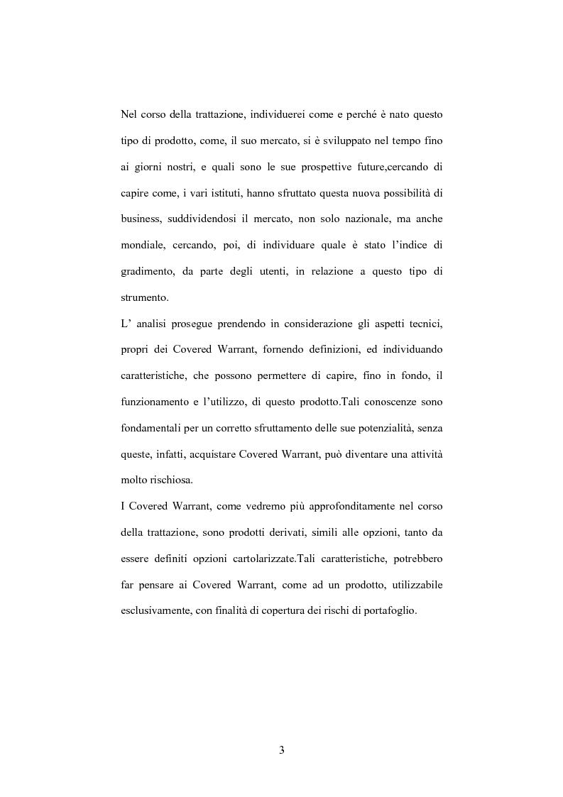 Anteprima della tesi: Daytraders vs Market Makers: tecniche di negoziazione nel mercato dei covered warrant, Pagina 3