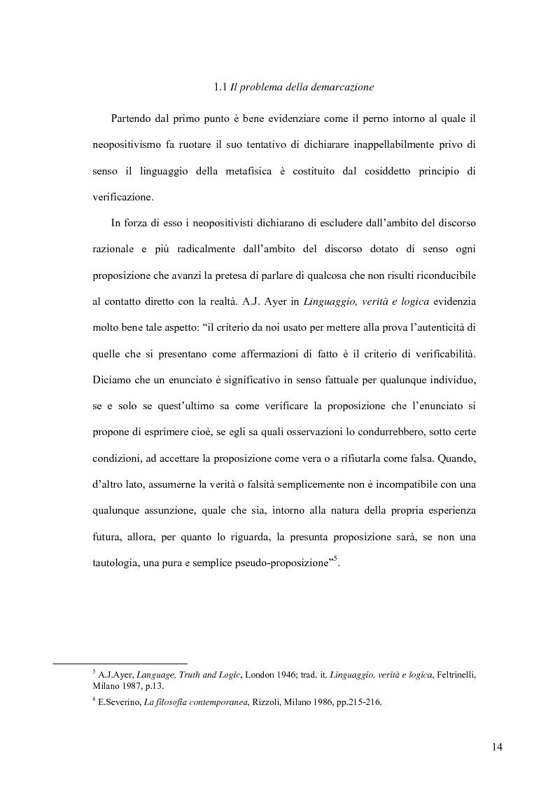 Anteprima della tesi: Oltre il neopositivismo e il relativismo: la proposta epistemologica di L. Laudan, Pagina 10