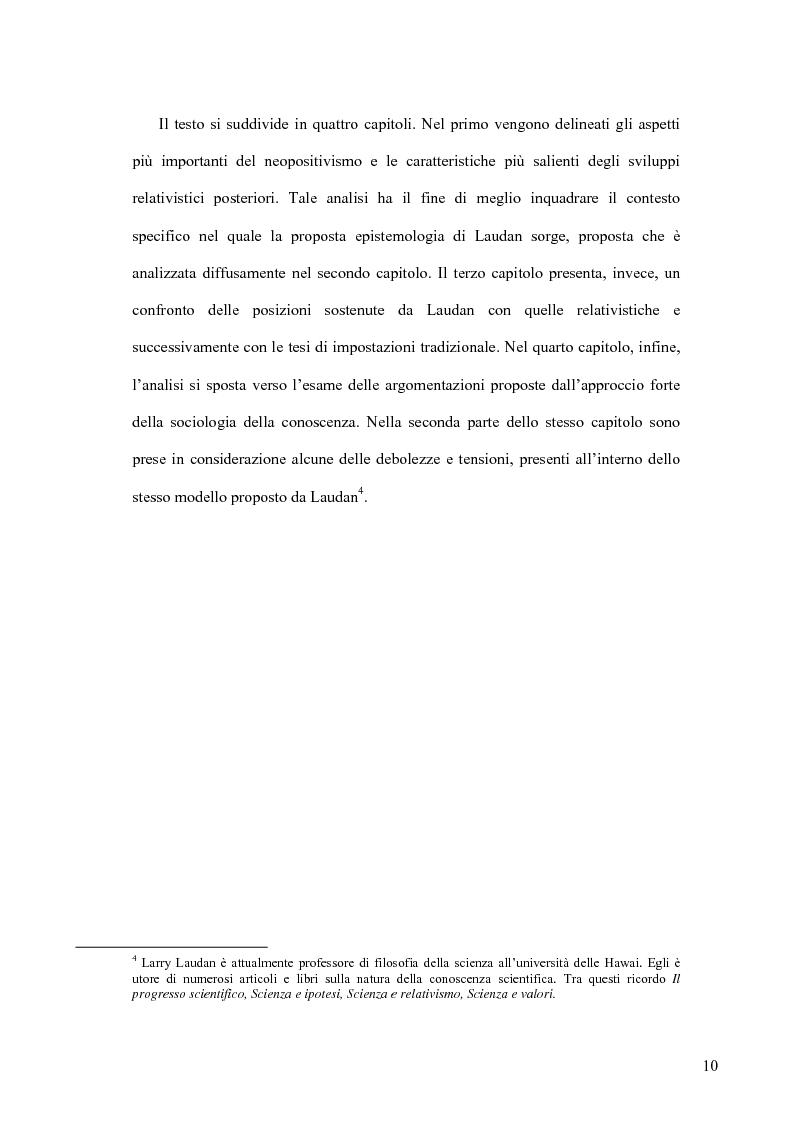 Anteprima della tesi: Oltre il neopositivismo e il relativismo: la proposta epistemologica di L. Laudan, Pagina 6