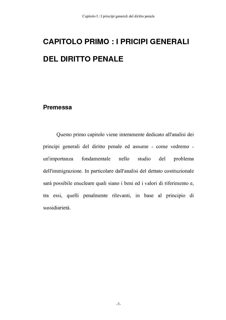Anteprima della tesi: Diritto penale ed immigrazione: tra tecniche di tutela ed esigenze di riforma, Pagina 1