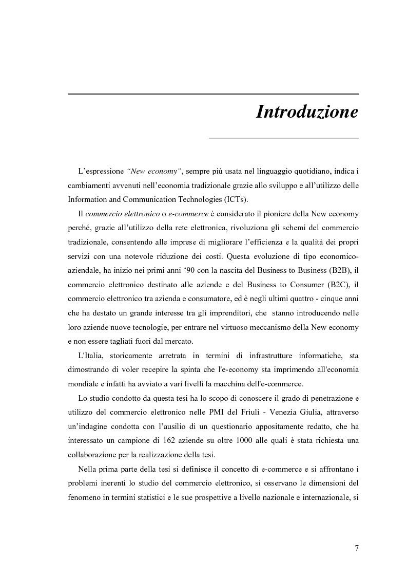 Anteprima della tesi: L'e-commerce nelle PMI del Friuli Venezia Giulia, Pagina 1