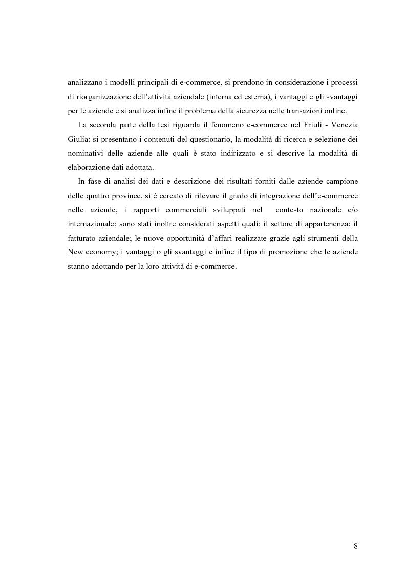 Anteprima della tesi: L'e-commerce nelle PMI del Friuli Venezia Giulia, Pagina 2