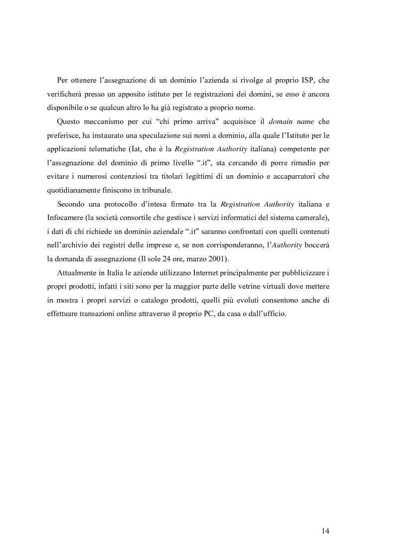 Anteprima della tesi: L'e-commerce nelle PMI del Friuli Venezia Giulia, Pagina 6
