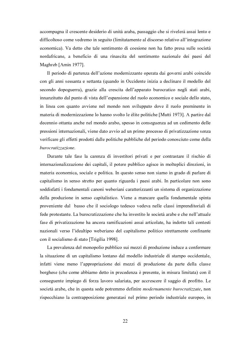 Anteprima della tesi: Capitalismo arabo/islamico. Possibilità di sviluppo economico in Algeria, Libia e Tunisia., Pagina 12