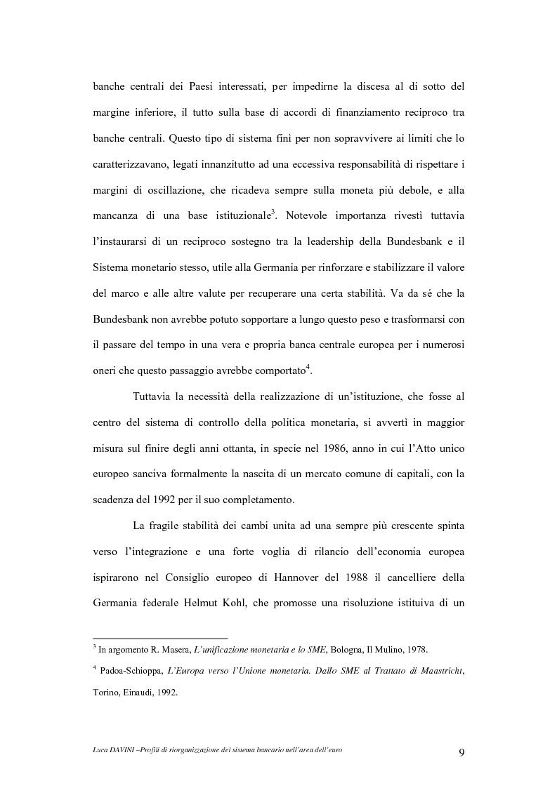 Anteprima della tesi: Profili di riorganizzazione del sistema bancario nell'area dell'euro, Pagina 12