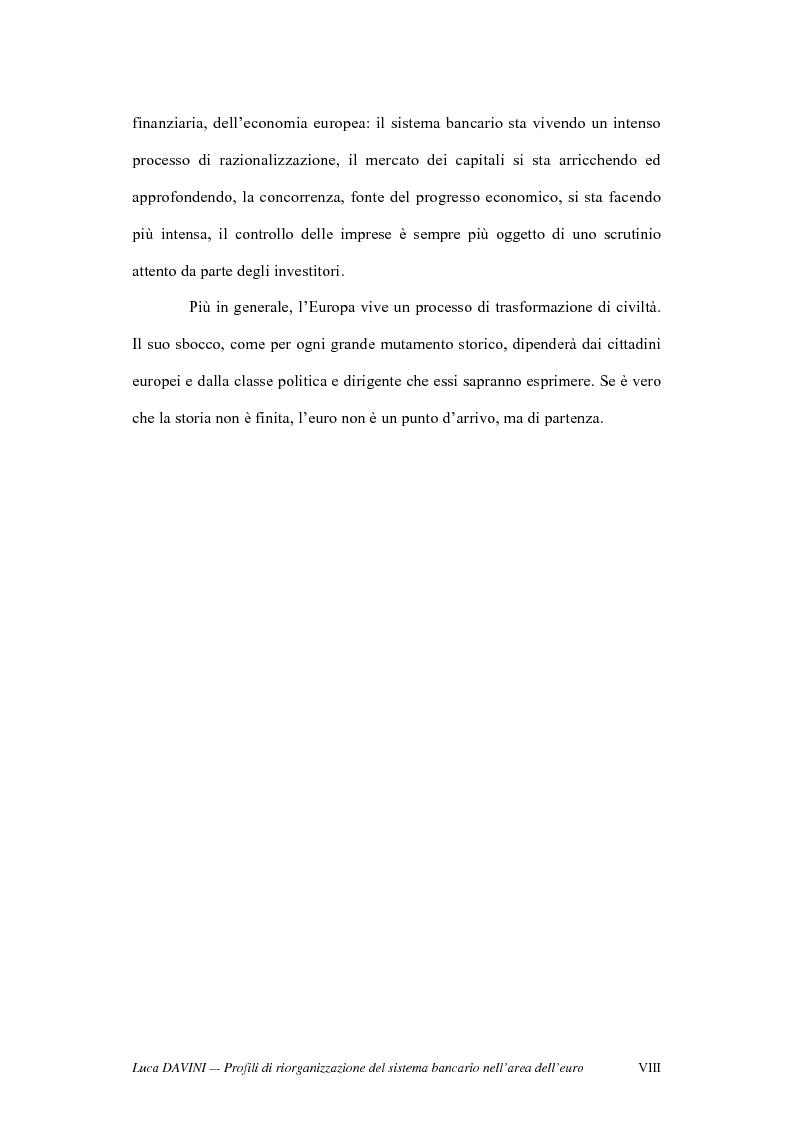 Anteprima della tesi: Profili di riorganizzazione del sistema bancario nell'area dell'euro, Pagina 3