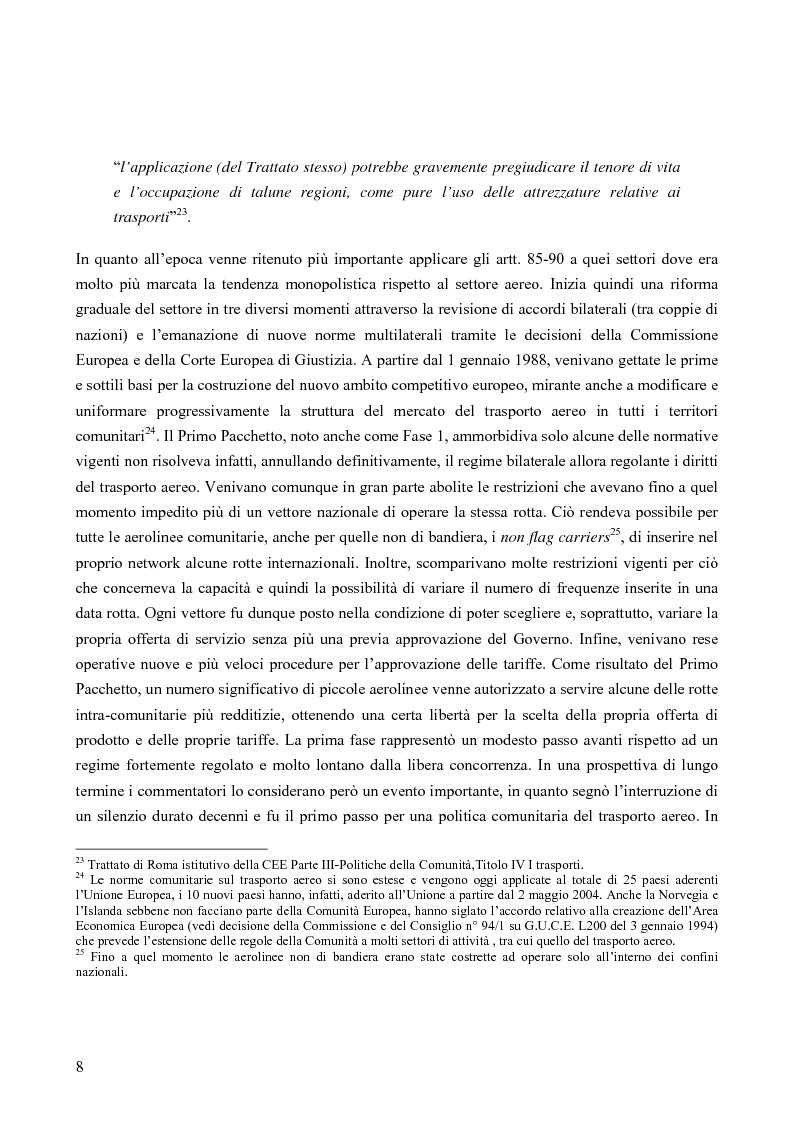 Anteprima della tesi: Strategie competitive nel settore aereo low-cost: casi a confronto, Pagina 11