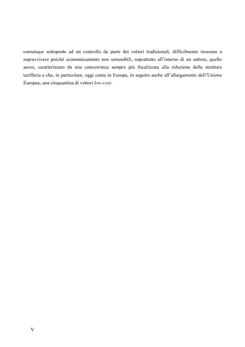 Anteprima della tesi: Strategie competitive nel settore aereo low-cost: casi a confronto, Pagina 3
