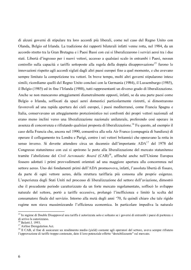Anteprima della tesi: Strategie competitive nel settore aereo low-cost: casi a confronto, Pagina 9