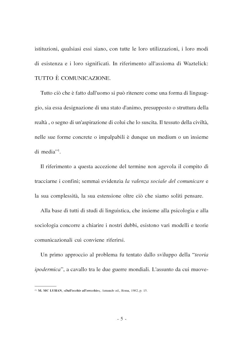 Anteprima della tesi: La Comunicazione politica. Modelli, linguaggi e sistema giuridico, Pagina 3
