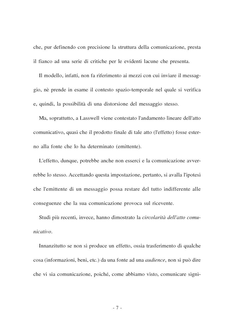 Anteprima della tesi: La Comunicazione politica. Modelli, linguaggi e sistema giuridico, Pagina 5