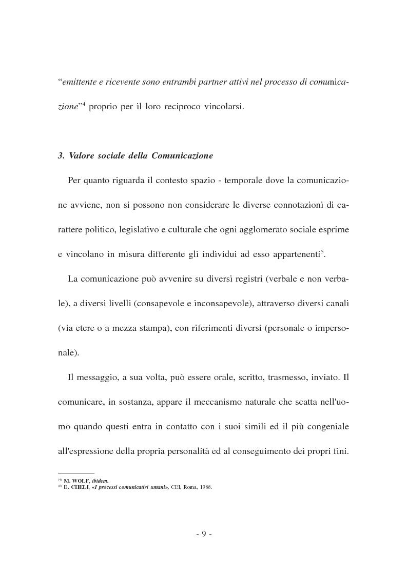 Anteprima della tesi: La Comunicazione politica. Modelli, linguaggi e sistema giuridico, Pagina 7