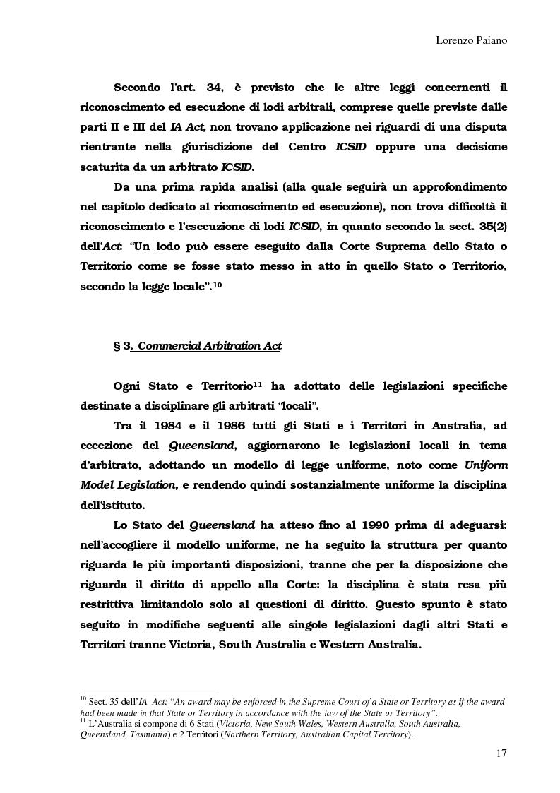 Anteprima della tesi: Arbitrato Internazionale Commerciale in Australia: problemi attuali, Pagina 13