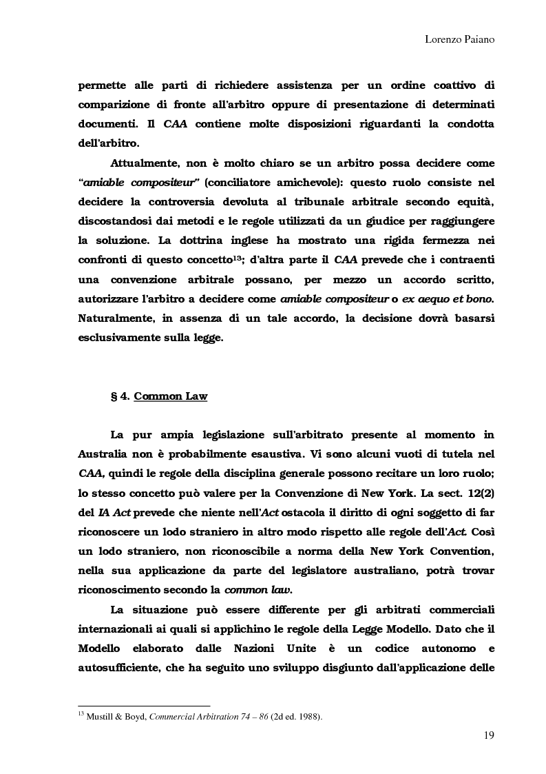 Anteprima della tesi: Arbitrato Internazionale Commerciale in Australia: problemi attuali, Pagina 15