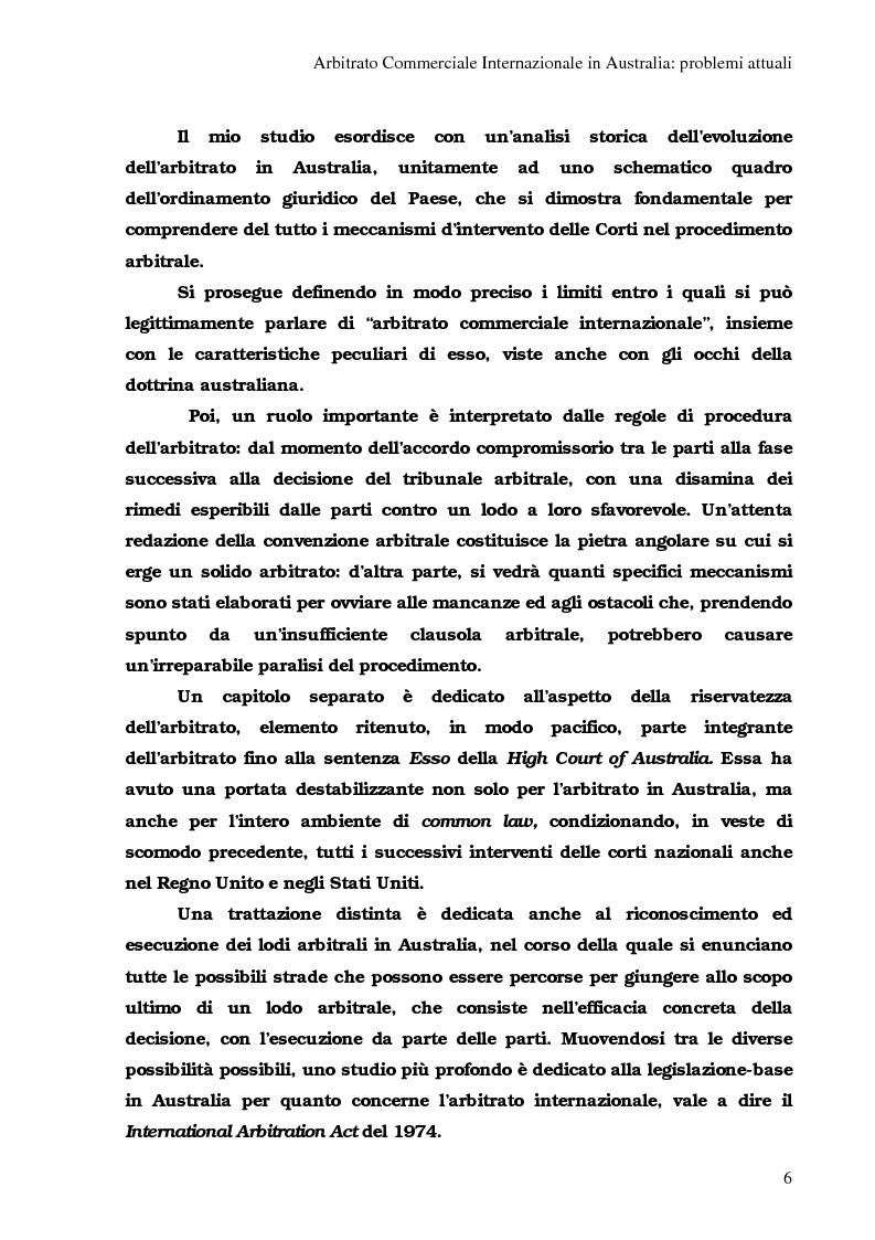 Anteprima della tesi: Arbitrato Internazionale Commerciale in Australia: problemi attuali, Pagina 2