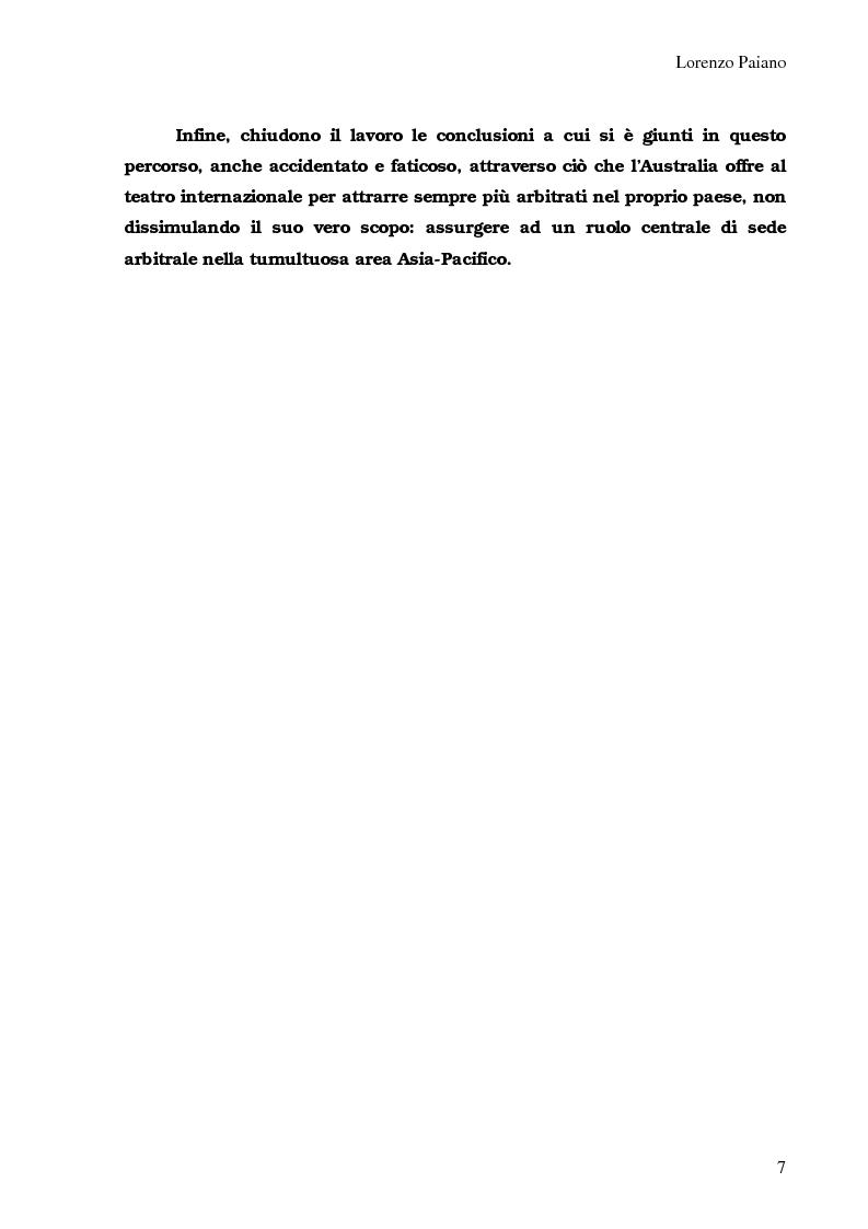 Anteprima della tesi: Arbitrato Internazionale Commerciale in Australia: problemi attuali, Pagina 3