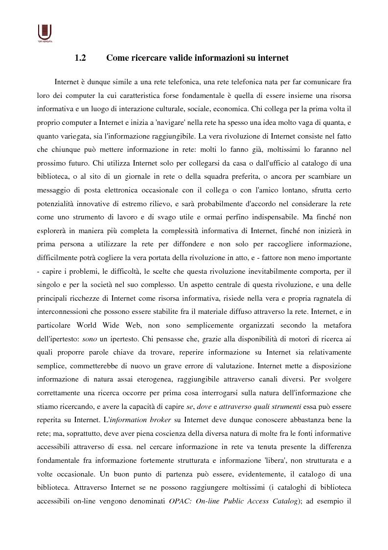 Anteprima della tesi: Valutazione delle risorse internet: il caso di William Shakespeare, Pagina 10