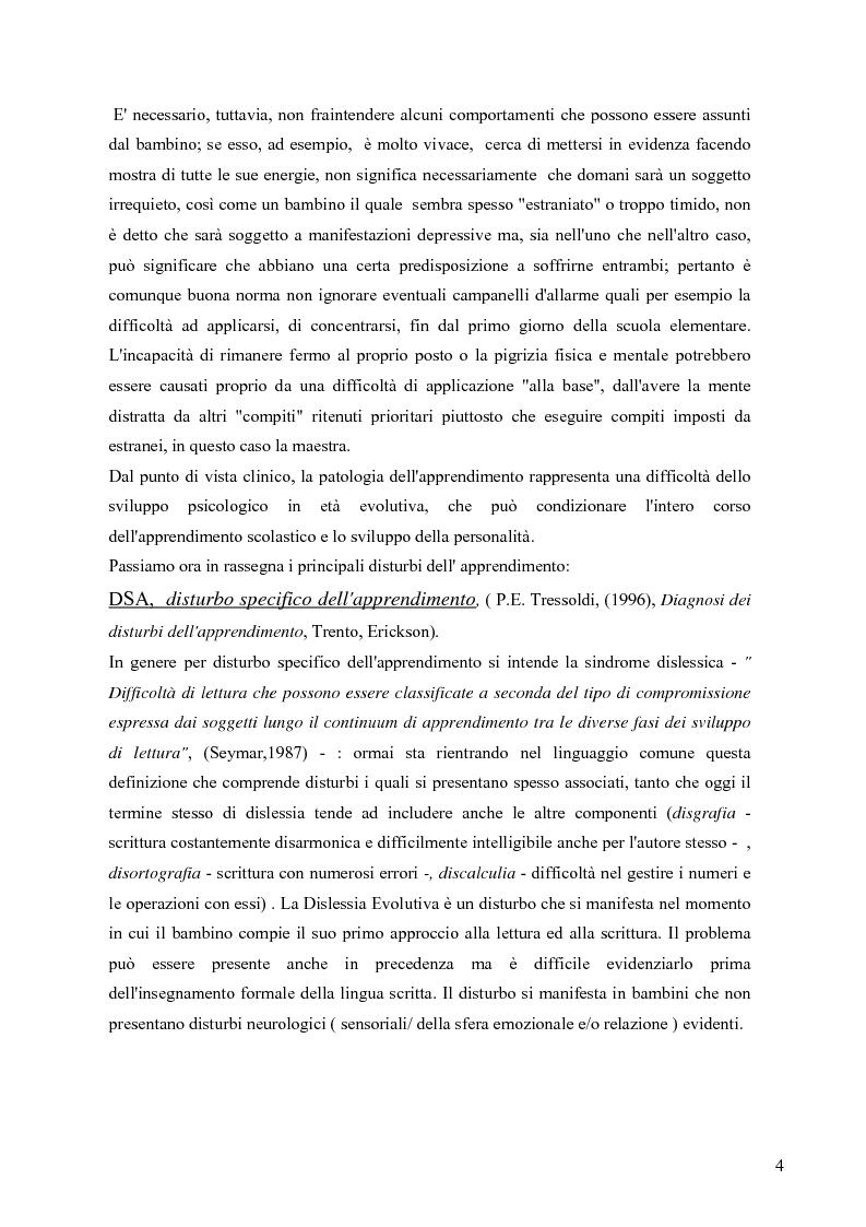 Anteprima della tesi: Esperienza di tirocinio: iter diagnostico seguito nella valutazione del disturbo dell'apprendimento, Pagina 2