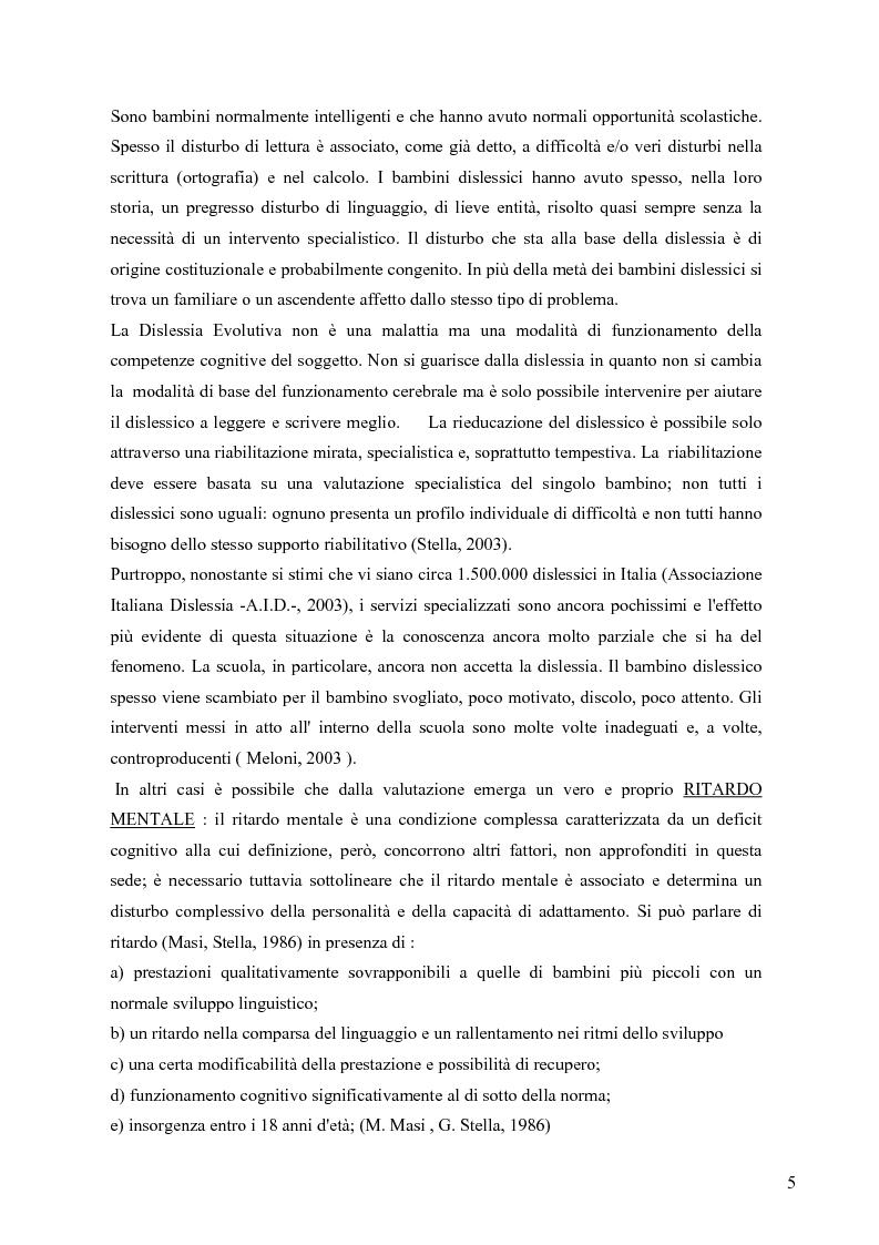Anteprima della tesi: Esperienza di tirocinio: iter diagnostico seguito nella valutazione del disturbo dell'apprendimento, Pagina 3