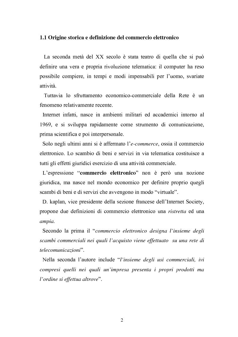Anteprima della tesi: I contratti telematici e la tutela del consumatore, Pagina 1