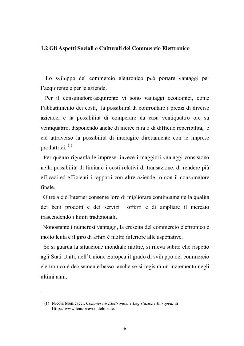 Anteprima della tesi: I contratti telematici e la tutela del consumatore, Pagina 5
