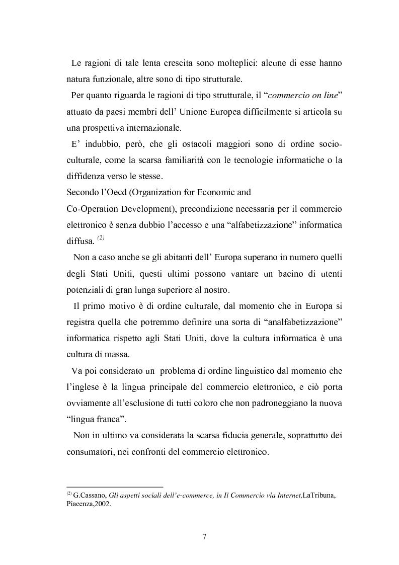 Anteprima della tesi: I contratti telematici e la tutela del consumatore, Pagina 6