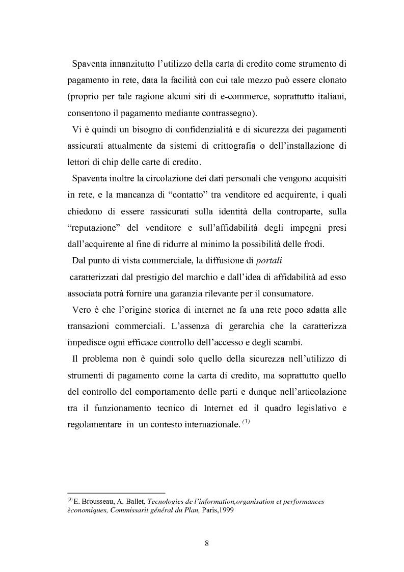 Anteprima della tesi: I contratti telematici e la tutela del consumatore, Pagina 7