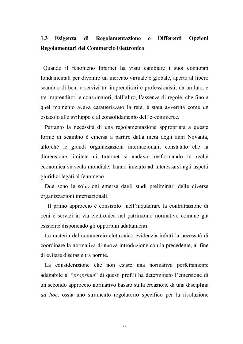 Anteprima della tesi: I contratti telematici e la tutela del consumatore, Pagina 8