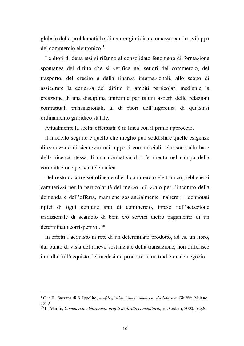 Anteprima della tesi: I contratti telematici e la tutela del consumatore, Pagina 9