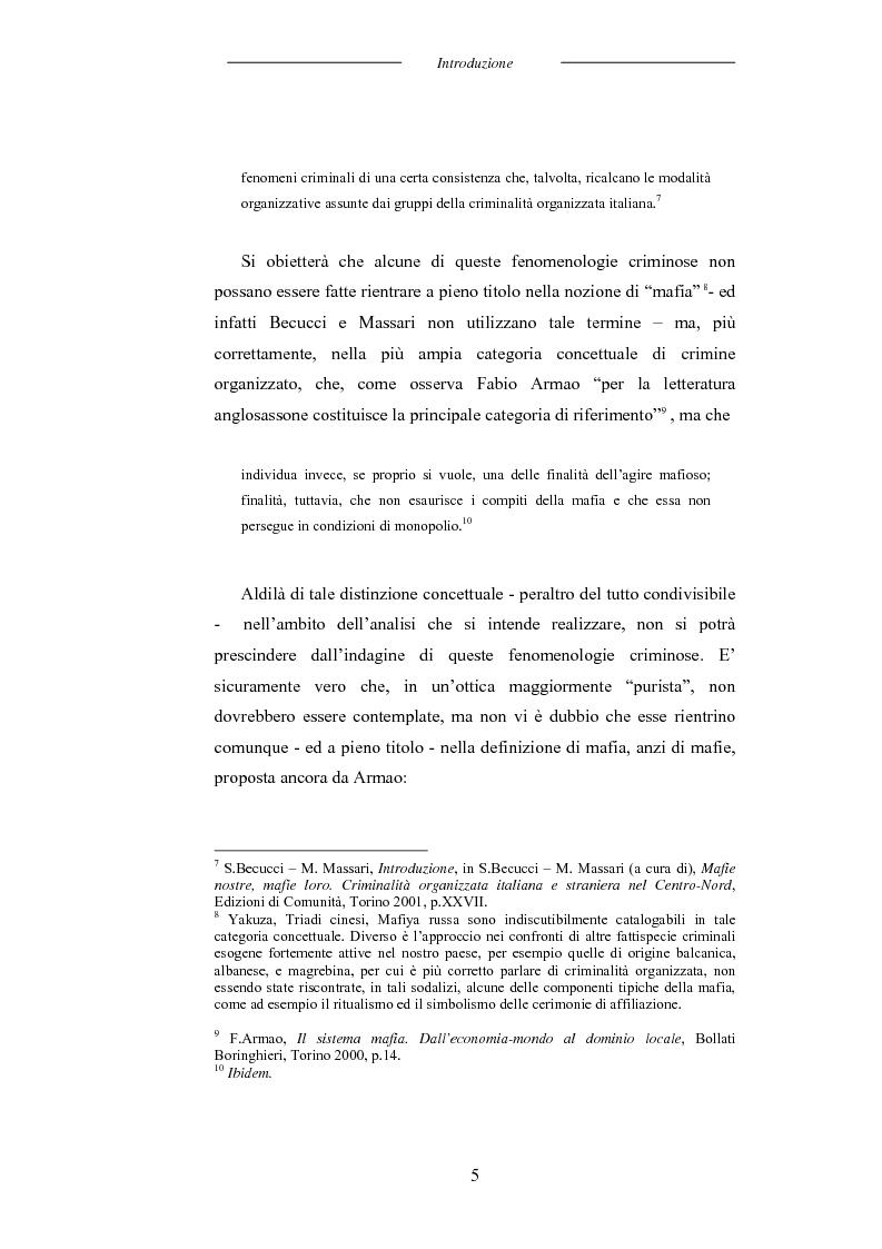 Anteprima della tesi: L'universo mafioso in Italia dal secondo dopoguerra ad oggi, Pagina 5
