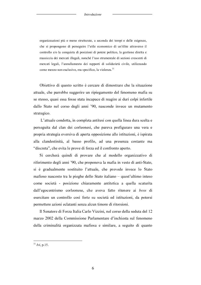 Anteprima della tesi: L'universo mafioso in Italia dal secondo dopoguerra ad oggi, Pagina 6