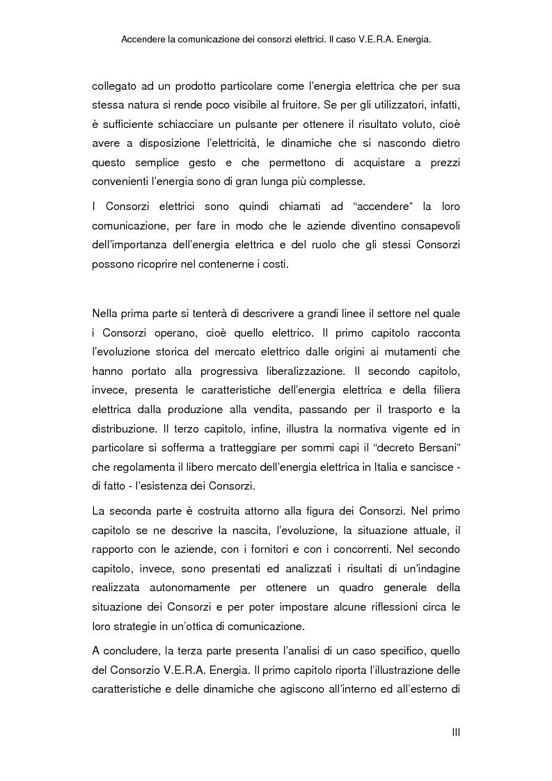 Anteprima della tesi: Accendere la comunicazione dei consorzi elettrici. Il caso V.E.R.A. Energia., Pagina 3