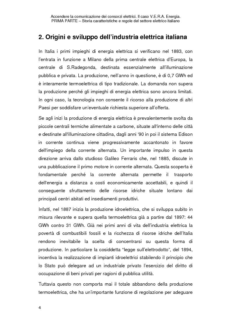 Anteprima della tesi: Accendere la comunicazione dei consorzi elettrici. Il caso V.E.R.A. Energia., Pagina 7