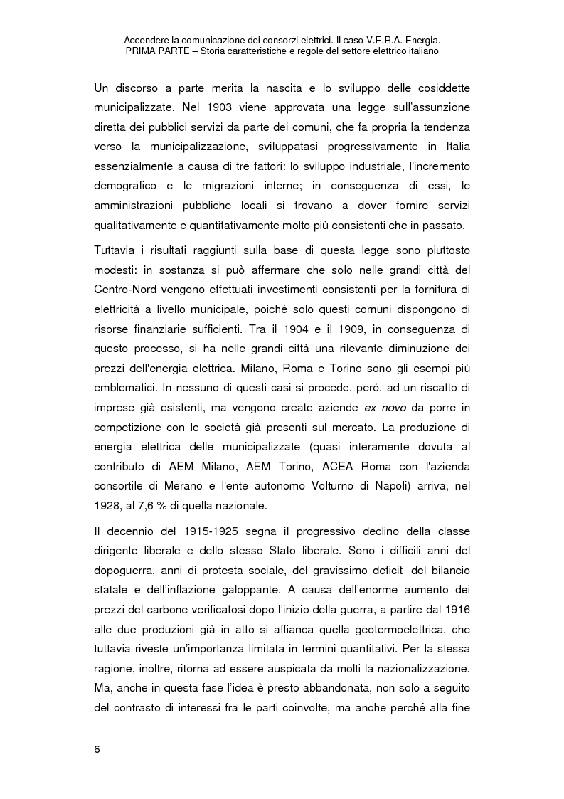 Anteprima della tesi: Accendere la comunicazione dei consorzi elettrici. Il caso V.E.R.A. Energia., Pagina 9