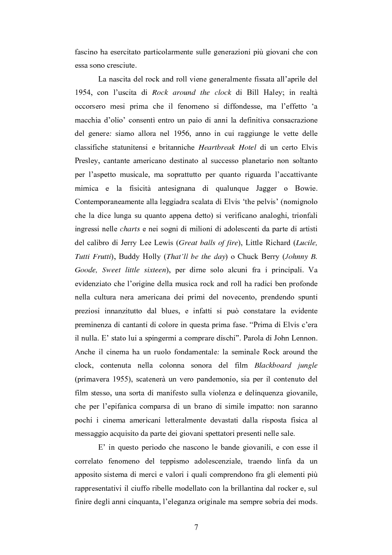 Anteprima della tesi: Il rapporto sinergico fra media e spettacolo: il caso esemplare dei Beatles nell'Inghilterra degli anni Sessanta, Pagina 5