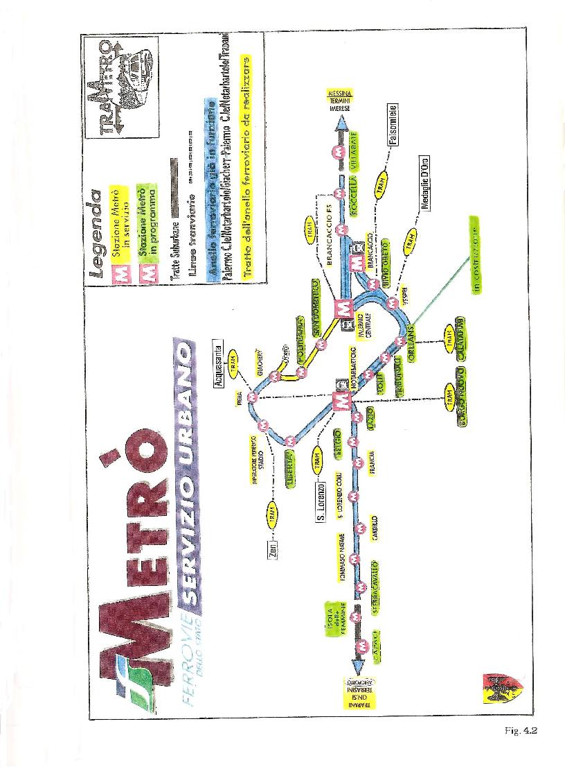 Anteprima della tesi: Confronto tra il progetto tram e metropolitana leggera a Palermo, Pagina 3