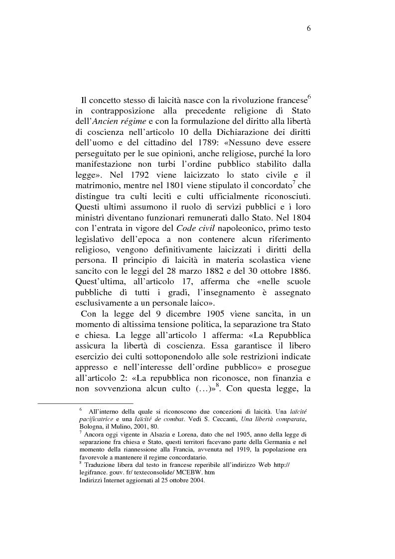 Anteprima della tesi: Profili comparatistici della disciplina del velo islamico, con particolare riferimento al caso francese, Pagina 4