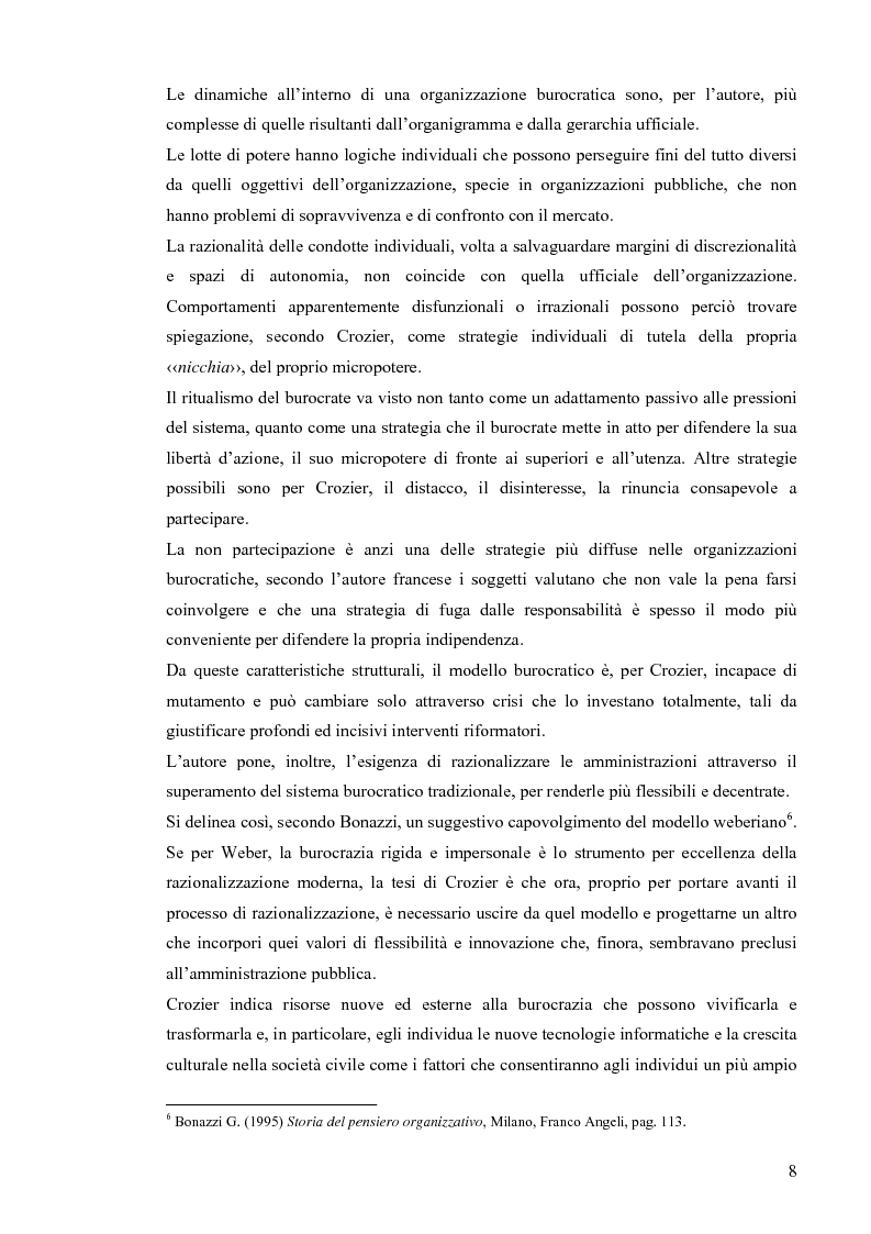 Anteprima della tesi: Comunicazione pubblica e customer satisfaction. Il caso dello Sportello del Cittadino di Spoleto, Pagina 11
