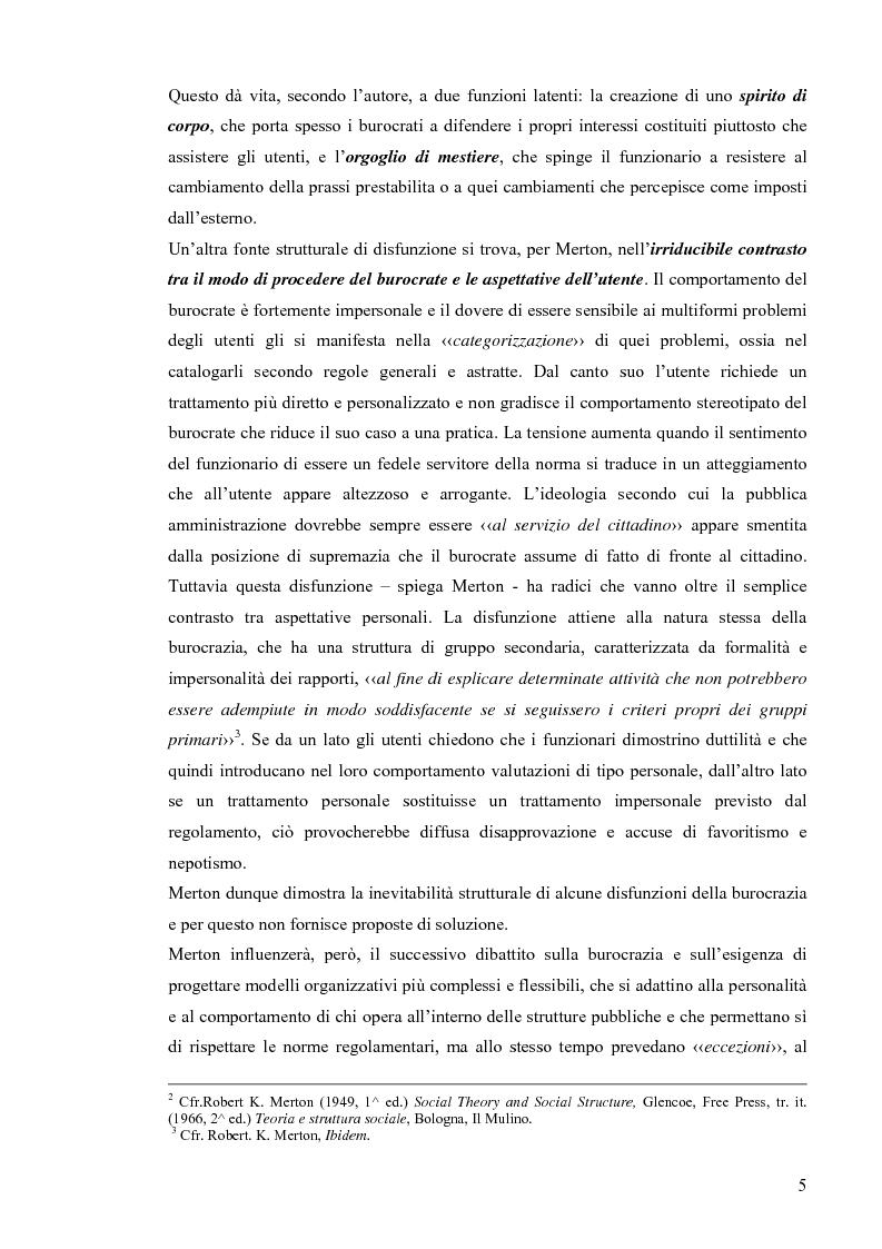 Anteprima della tesi: Comunicazione pubblica e customer satisfaction. Il caso dello Sportello del Cittadino di Spoleto, Pagina 8